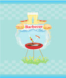 Barbecue Party Invitation. Bbq party  invitation template Royalty Free Stock Images