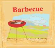 Barbecue Party Invitation Royalty Free Stock Photos