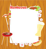 Barbecue Party Invitation. BBQ Party Invitation with copy space Royalty Free Stock Photos