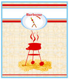Barbecue Party Invitation Royalty Free Stock Photography