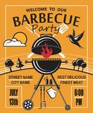 Barbecue party invitation Stock Photography