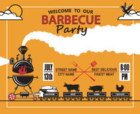 Barbecue party invitation Stock Images