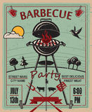 Barbecue party invitation Stock Photos