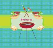 Barbecue Party Invitation Stock Photos