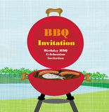 Barbecue Party Invitation Royalty Free Stock Photo