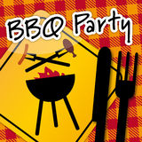 Barbecue Party, invitation Royalty Free Stock Images