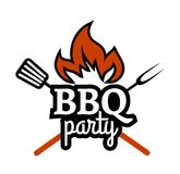 Barbecue Party label Stock Images