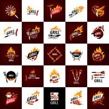 Barbecue party logo. Logo design template for a barbecue. Vector illustration stock illustration