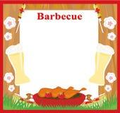 Barbecue Party menu card Invitation Stock Photos