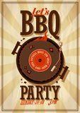 Barbecue party poster. Stock Images