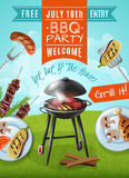 Barbecue Party Poster Stock Image