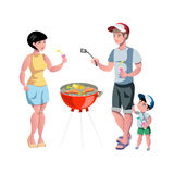 Barbecue party. Summer outdoor activity. Stock Image
