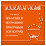 Barbecue Party Template. Vector illustration  for  poster, card, home print, menu, invitations etc Stock Photo