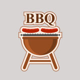 Barbecue party vector element poster Stock Images