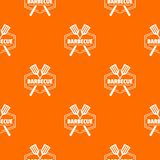 Barbecue pattern vector orange. For any web design best royalty free illustration