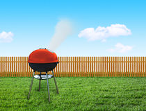 Barbecue picnic on backyard Royalty Free Stock Photo