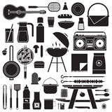 Barbecue and Picnic Set Stock Images