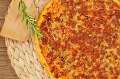 Barbecue pizza Stock Photo