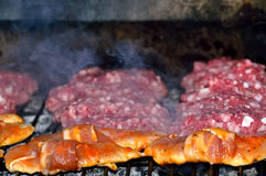 Barbecue platter, meats Royalty Free Stock Images
