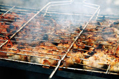 Barbecue. The barbecue from pork is fried on coals stock images