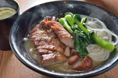 Barbecue pork noodle Stock Image