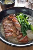 Barbecue pork noodle Stock Images