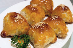 Barbecue Pork Pastry Dim Sum Closeup Stock Photo