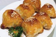 Barbecue Pork Pastry Dim Sum Closeup Stock Photo