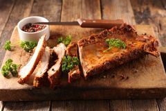Barbecue pork rib Royalty Free Stock Photography