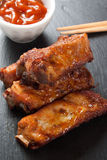 Barbecue pork ribs Stock Photos