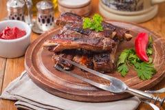 Barbecue pork ribs Stock Image