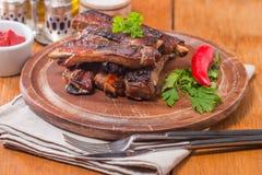 Barbecue pork ribs Royalty Free Stock Photos