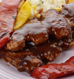 Barbecue Pork Ribs Royalty Free Stock Photo