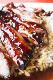 Barbecue pork ribs rice Stock Photography