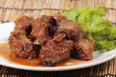 Barbecue Pork Ribs Royalty Free Stock Photos
