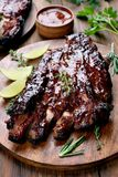 Barbecue pork ribs stock photography