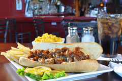 Barbecue pork sandwich Royalty Free Stock Photography