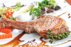 Barbecue pork steak Stock Image