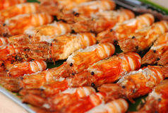 Barbecue prawns Stock Photos