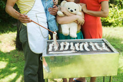 Barbecue preparation Royalty Free Stock Images