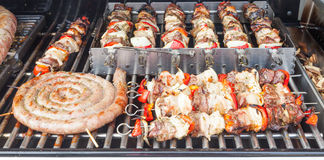 Barbecue preparation Stock Photography