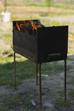 Barbecue in a private home. Stock Photos