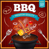 Barbecue Realistic Poster Royalty Free Stock Image