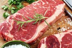 Barbecue Rib Eye Steak, dry Aged Wagyu Entrecote Steak.  Stock Photos