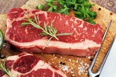 Barbecue Rib Eye Steak, dry Aged Wagyu Entrecote Steak.  Stock Images