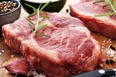 Barbecue Rib Eye Steak, dry Aged Wagyu Entrecote Steak.  Royalty Free Stock Images
