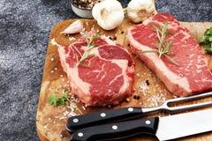 Barbecue Rib Eye Steak, dry Aged Wagyu Entrecote Steak.  Royalty Free Stock Photo