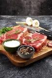 Barbecue Rib Eye Steak, dry Aged Wagyu Entrecote Steak.  Stock Photography