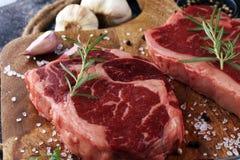 Barbecue Rib Eye Steak, dry Aged Wagyu Entrecote Steak.  Stock Image