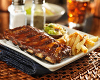 Barbecue rib meal Royalty Free Stock Images